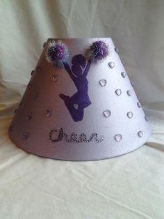 Cheerleader Lamp Shade Room Decor in triple purple by Treasures81, $34.99