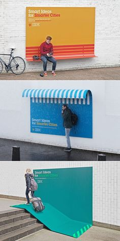 "Enorme Ação de Marketing da IBM com o Conceito ""Smart Ideas for Smarter Cities."" #ibm #marketing #advertising #design"