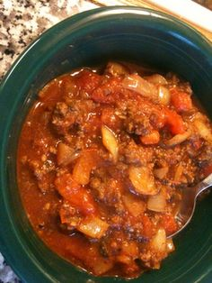 Paleo/Primal Chili from Primal Women.  This is super tasty!  I put in some extra spice with jalapenos and red pepper flakes to the max!!