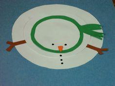 Paper Circle Snowman   ThriftyFun
