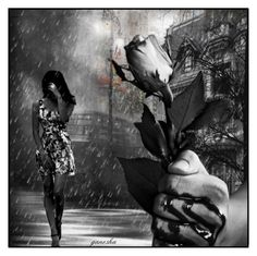 """I don't wanna make me  go through one more rainy day,,,,,,,,,"" by ganesha700 ❤ liked on Polyvore featuring art"