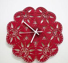 Traditional Folk Design Wall Clock