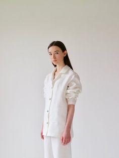 Irish linen relaxed shirt, made in Ireland, by 31 Chapel Lane
