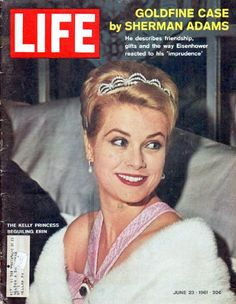 """1961 LIFE MAGAZINE vintage magazine cover """"The Kelly Princess"""" ~ The Kelly Princess ... Beguiling Erin (Ireland) ... June 23, 1961 ~"""