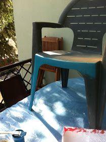 Kendime Saklamam: Plastik sandalye boyama - Plastic chair painting