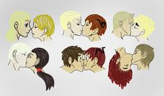 ((FrancisxJoan , LudwigxFeliciano , AlfredxArthur , IvanxYao , AntonioxLovino , and the last one is me and mah Bae ))