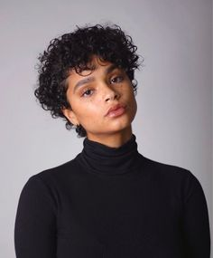 Tapered Pixie with Long Bangs - Pixie Haircuts With Bangs – 50 Terrific Tapers - The Trending Hairstyle Big Chop Hairstyles, Short Curly Haircuts, Haircuts With Bangs, Curled Hairstyles, Cool Hairstyles, Short Curly Afro, Dreadlock Hairstyles, Black Hairstyles, Wedding Hairstyles