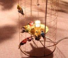 Lampe à poser cage à oiseaux Volière de Mathieu Challières