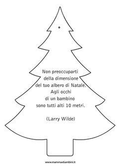 Inseriamo oggi la versione da colorare dell'albero con la frase sul Natale; sappiamo che molti si divertono a stampare e poi colorare i nostri disegni. Queste decorazioni che abbiamo inserito nella categoria FESTA NATALE possono essere stampate su un cartoncino e anche usate con segnaposti