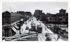 Eleventh Ave. looking East, Regina , Sask.. 1940's.