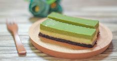 Triple Layer Matcha Cheesecake Bars