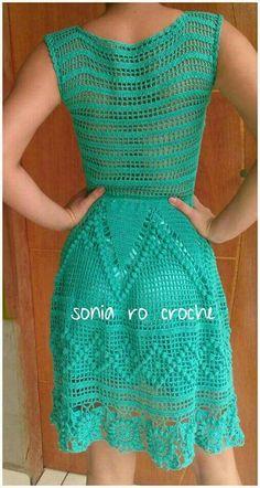Image gallery – Page 513903007478732105 – Artofit Crochet Baby Dress Pattern, Crochet Patterns, Freeform Crochet, Knit Crochet, Crotchet Styles, Crochet Summer Dresses, Crochet Humor, Crochet Woman, Crochet Clothes