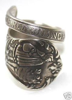 Celebrities who use a Antique 'Little Red Riding Hood' Spoon Ring. Also discover the movies, TV shows, and events associated with Antique 'Little Red Riding Hood' Spoon Ring. Antique Rings, Antique Jewelry, Vintage Jewelry, Red Riding Hood Story, Little Red Hood, Love Spoons, Book Jewelry, Jewelry Rings, Spoon Rings
