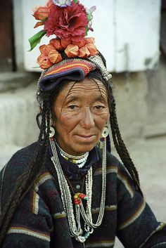 India | Drokpa/Dard Woman. Leh, Ladakh |  �Leonid Plotkin