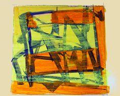 Jean-Paul BARRAY, Abstraction, gouache sur papier, vers 1960 Technique : gouache sur papier, cachet sec de l'atelier, 51 X 67 cm