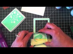 Emboss Resist with Ink Daubers-she gives a great tip on using the stamp-a-thing