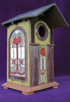 Bosetti Art Tile - Craftsman Rose - Bird House