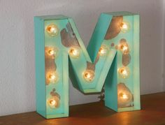 SALE 24 LARGE Old Vintage Style Marquee Letters by JunkArtGypsyz