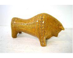 Vintage Aldo Londi Bitossi Bull Sculpture // by AnytimeVintage, $575.00