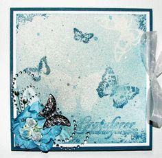 Lena Katrine`s Scrappeskreppe: DT Ett trykk 04/09 Shimmering Backgrounds - a Card and a Glimmermist Tutorial, og Kurs på Ski-Treffet ;)