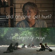 No no we are not Carol we all are not ok but we will be after we put Negan's head on a stick and rise up