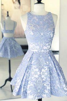 A-Linie Scoop Blue Short Prom Kleid Print Homecoming Dress A-l … – Brautfrisuren – Frisuren 2020 Light Blue Homecoming Dresses, Cute Prom Dresses, Pretty Dresses, Dress Prom, Club Dresses, Bridesmaid Dresses, Elegant Dresses, Teen Dresses, Midi Dresses