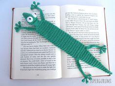 Crochet Gecko Bookmark