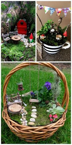 Easy Fairy and Miniature Gardens - 60 Best DIY Fairy Garden Ideas / Fairy Garden Houses - DIY & Crafts