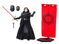 Figura Kylo Ren 15 cm. Star Wars Episodio VII. Exclusiva. Línea The Black Series. Hasbro  Estupenda figura de 15 cm de altura de Kylo Ren de 15 cm, con accesorios y articulada de la compañía Hasbro, especialistas en juguetes y merchandising.