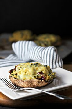 Kale and Quinoa Stuffed Portobello Mushrooms ~vegetarian, gluten free~ A vegetarian option for Thanksgiving!