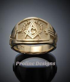 Masonic Blue Lodge ring by Proline Designs