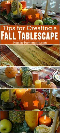Fall Tablescape Tuto