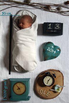 Binnenkant geboortekaart Ole Reuvers. Created by Marloes Reuvers