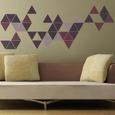 Attractive Geometric Triangles Wall Stickers | Pinterest | Triangle Wall, Wall Sticker  And Triangles