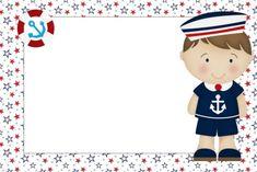 Convite Marinheiro – 16 Modelos Criativos! – Modelos de Convite Project Life Baby, Sailor Theme, Oh My Fiesta, Diy Birthday Decorations, Nautical Party, Themes Free, Printable Paper, Journal Cards, Classroom Decor