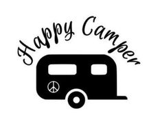 Monogrammed Retro Camper Decal Airstream By BrandywineHD