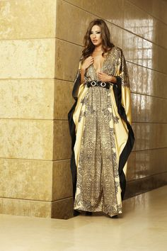 beautiful gold and black #caftan #silk #print #fashion #my #designs #for #woodstock