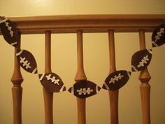 Superbowl party football garland!