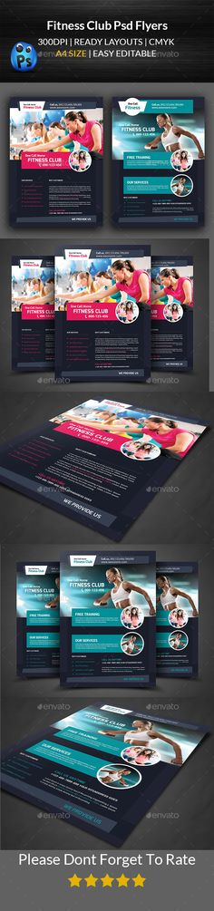 Fitness Flyer | Flyer Template, Gym And Brochures