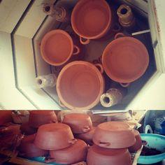 Trabajo a pedido para bar. Arcilla roja . 1020/1040ºC CASUELITAS DE 15 X 6 CM Bar, Canning, Clay, Red, Home Canning, Conservation