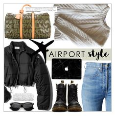 Wanderlust Wonderful: Airport Style by anne-symanski-goranson on Polyvore featuring мода, Anine Bing, 3.1 Phillip Lim, RE/DONE, Dr. Martens, Louis Vuitton and airportstyle