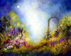 Landscape Floral Art Print Full Moon  by MarinaPetroFineArt https://www.etsy.com/listing/94504618/landscape-floral-art-print-full-moon?ref=shop_home_active_2