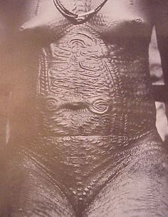 African scarification to decorate and beautify the body.