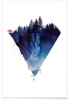 Near to the edge als Premium Poster von Róbert Farkas | JUNIQE