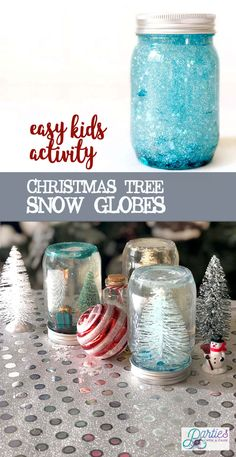 Children's Craft Christmas Tree Snow Globe - Parties With A Cause