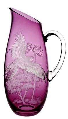 Planet Earth Wild Orchid pitcher by Christian Haas Magenta, Purple Haze, Shades Of Purple, Mosaic Glass, Stained Glass, Glass Art, Glass Pitchers, Purple Glass, Wild Orchid