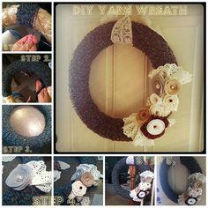 DIY Yarn Wreath