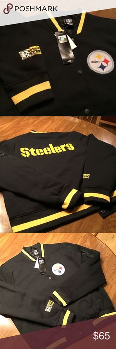 Pittsburgh Steelers NFL Apparel Jacket NFL licensed team apparel Jacket. Snap closure, quilted liner.  Two front pockets, arm pocket and one interior pocket. Banded waist, collar, and sleeves. Extra large also available under separate listing. Price firm. Jackets & Coats