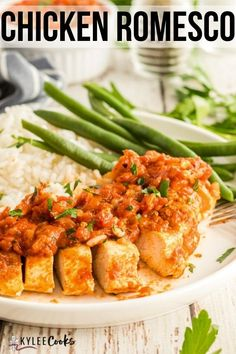 Grilled Chicken paired with an amazingly full flavored Romesco Sauce brings YOUR dinner to new levels. Smoky and robust, you'll find yourself looking for new things to eat it with! #romesco #chicken #sauce #dinner