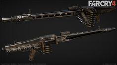 Far Cry 4 : MG42 : 1 , Greg Rassam on ArtStation at http://www.artstation.com/artwork/far-cry-4-mg42-1